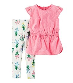 Carter's® Girls' 2T-4T 2-Piece Flutter Sleeve Top And Leggings Set