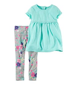 Carter's® Girls' 2T-4T 2-Piece Top And Floral Leggings Set