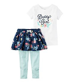 Carter's® Girls' 2T-4T 2-Piece Daddy's Girl Tee And Skirt Leggings Set