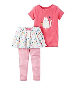 Carter's® Girls' 2T-4T 2-Piece Kitty Tee And Tutu Pants Set