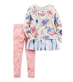 Carter's® Girls' 2T-8 2-Piece Floral Top And Leggings Set