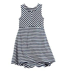 Carter's® Girls' 2T-8 Striped Jersey Dress