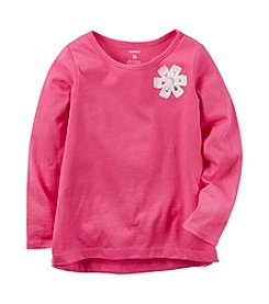 Carter's® Girls' 2T-8 Rosette Solid Long Sleeve Top