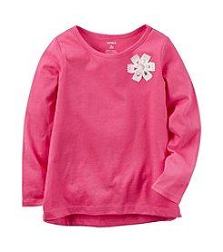 Carter's® Girls' 2T-8 Rosette Solid Long Sleeve Top