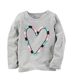 Carter's® Girls' 2T-8 Heart Long Sleeve Tee