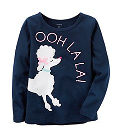 Carter's® Girls' 2T-8 Poodle Long Sleeve Tee