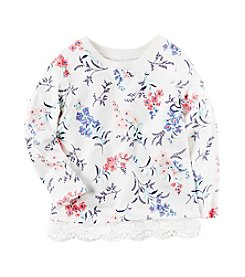 Carter's® Girls' 2T-8 Floral Lace Trim Top