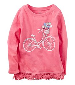 Carter's® Girls' 2T-8 Bicycle Ruffle Hem Top