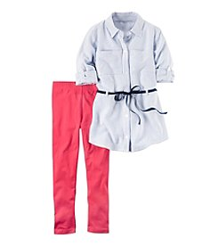 Carter's® Girls' 4-8 2-Piece Striped Tunic and Leggings Set