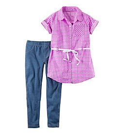 Carter's® Girls' 4-8 2-Piece Tunic Top And Jeggings Set