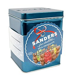 Sanders® Holiday Tin Of Milk Chocolate Covered Gummi Bears