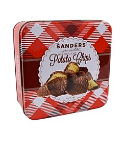 Sanders® Holiday Tin Of Milk Chocoalte Covered Potato Chips