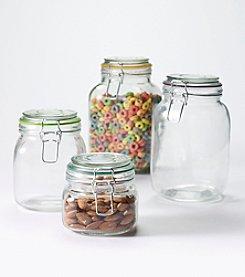 Pfaltzgraff® Snaplock Food Storage Jar Set w/4 Bonus Mini Jars