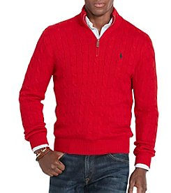 Polo Ralph Lauren® Men's Cable-Knit 1/2 Zip Mock Neck Sweater