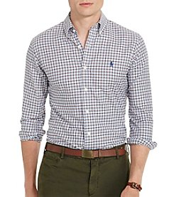 Polo Ralph Lauren® Men's Checked Twill Sport Shirt