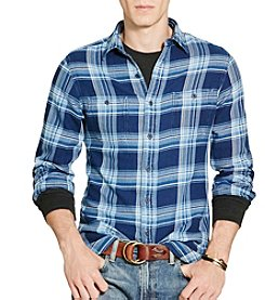 Polo Ralph Lauren® Men's Langley Indigo Plaid Cotton Workshirt