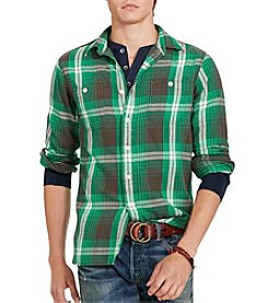 Polo Ralph Lauren® Men's Langley Plaid Cotton Twill Workshirt