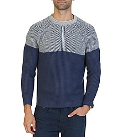 Nautica® Men's Plaited Crew Neck Sweater
