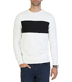 Nautica® Men's Chest Stripe Crew Neck Sweater