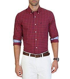 Nautica® Men's Long Sleeve Plaid Button Down Shirt
