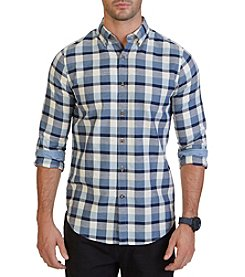 Nautica® Men's Long Sleeve Medium Plaid Button Down Shirt