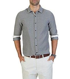 Nautica® Men's Long Sleeve Tweed Button Down Shirt