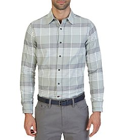 Nautica® Men's Long Sleeve Large Oxford Plaid Button Down Shirt