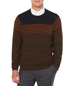 Perry Ellis® Men's Textured Stripe Sweater
