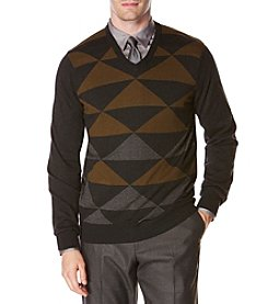Perry Ellis® Men's Diamond Pattern Sweater