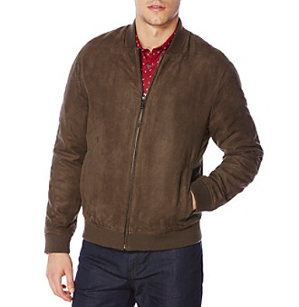 ... UPC 797082273629 product image for Perry Ellis® Men s Faux Suede Bomber  Jacket  8e8516f41