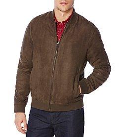 Perry Ellis® Men's Faux Suede Bomber Jacket