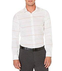 Perry Ellis® Men's Long Sleeve Horizontal Stripe Button Down Shirt