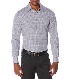 Perry Ellis® Men's Long Sleeve Double Check Button Down Shirt