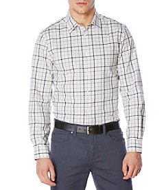 Perry Ellis® Men's Long Sleeve Tattersal Button Down Shirt