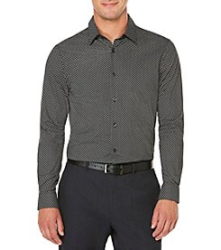Perry Ellis® Men's Long Sleeve Geo Print Button Down Shirt