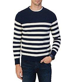 Nautica® Men's Textured Stripe Crewneck Sweater