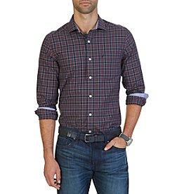 Nautica® Men's Long Sleeve Small Plaid Button Down Shirt