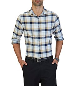 Nautica® Men's Long Sleeve Large Plaid Button Down Shirt