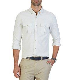 Nautica® Men's Double Pocket Long Sleeve Stratford Moleskin Button Down Shirt