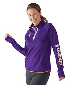 G III NFL® Minnesota Vikings Womens Interval 1/2 Zip Pullover