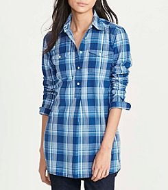 Lauren Jeans Co.® Printed Long Sleeve Shirt