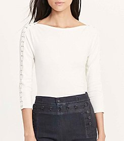 Lauren Jeans Co. Duragi Three Quarter Sleeve Knit Top