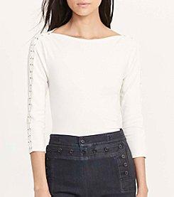 Lauren Jeans Co. Duragi Three Quarter Sleeve Knit Top