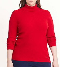 Lauren Ralph Lauren® Plus Size Long Sleeve Turtle Neck