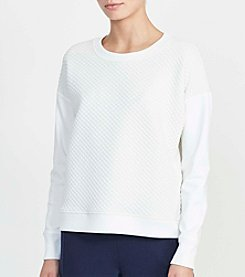 Lauren Active® Quilted Knit Top