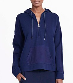 Lauren Active® Hooded Zip Up Knit Top