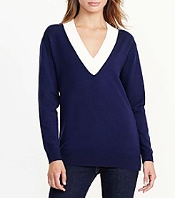 Lauren Active® Deep V Neck Vanizio Sweater