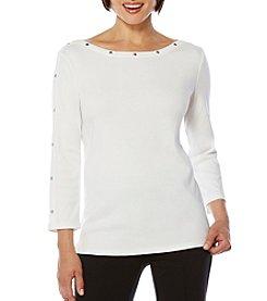 Rafaella® Three-Quarter Sleeve Top
