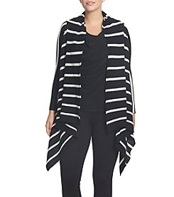 Chaus Long Sleeve Striped Cardigan