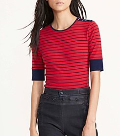 Lauren Jeans Co.® Elbow Sleeve Knit Top